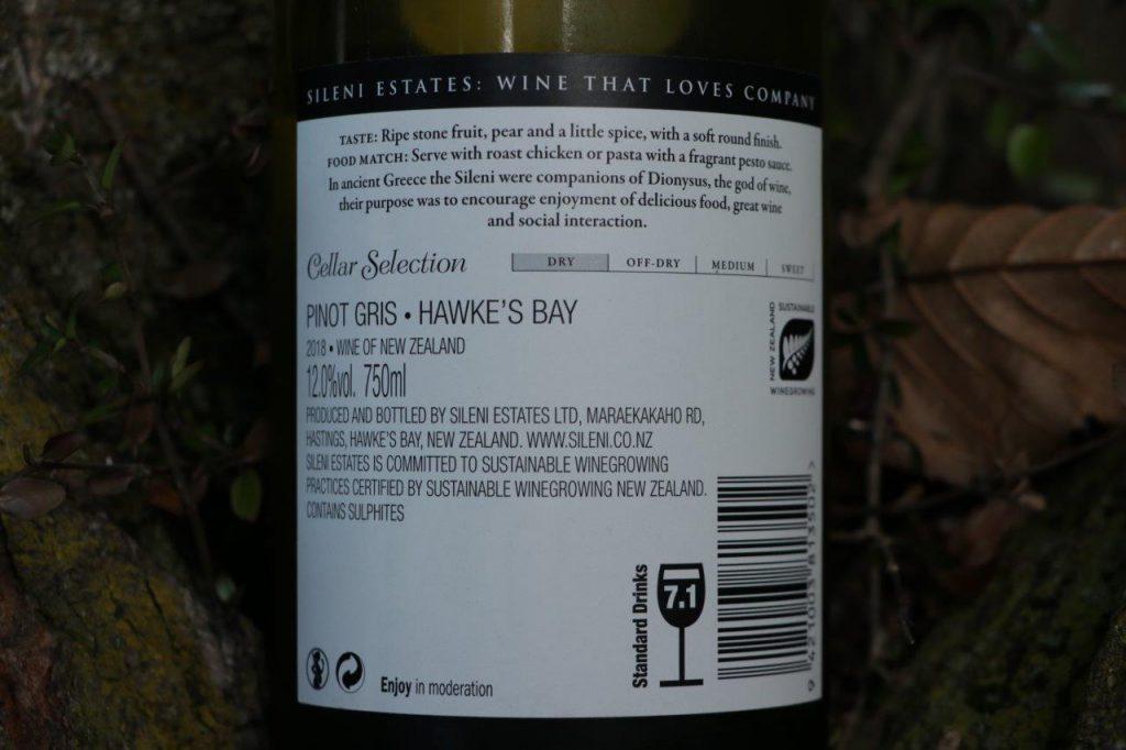 Sileni Estates Cellar Selection Pinot Gris 2018 | Hawke's Bay